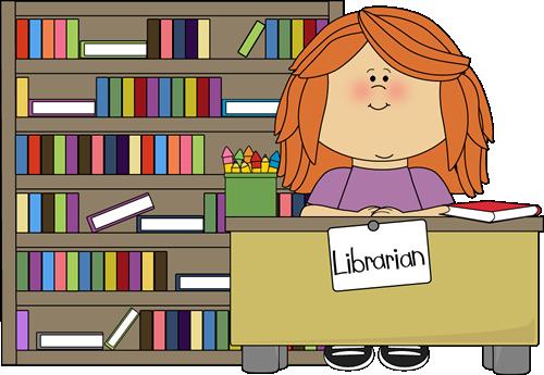 Girl Classroom Librarian Clip Art