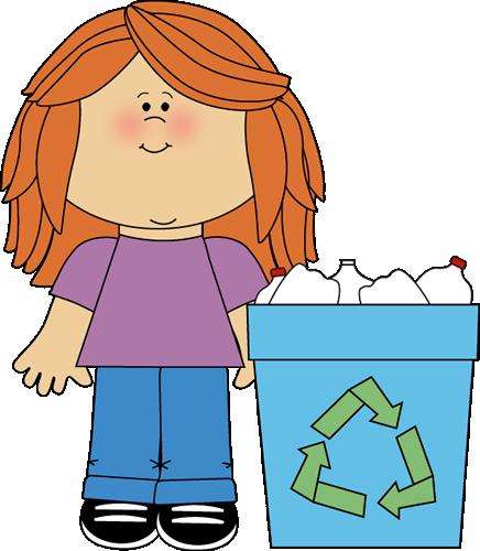 Girl Classroom Recycler Clip Art
