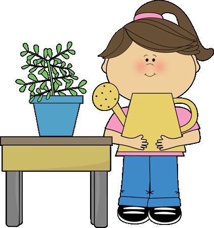 Classroom Plant Helper Clip Art