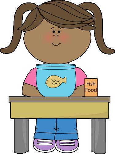 Girl Classroom Pet Helper Clip Art