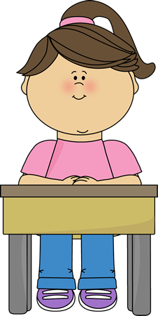 Girl Sitting at School Desk Clip Art - Girl Sitting at School Desk ...