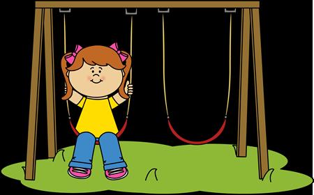 Girl Swinging Clip Art