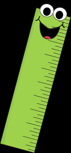 Green Cartoon Ruler