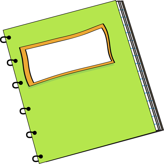 Green Notebook with a Blank Label