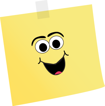 Happy Face Sticky Note