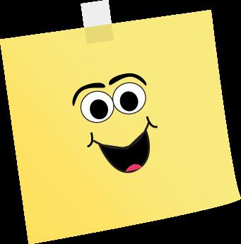 Happy Face Sticky Note