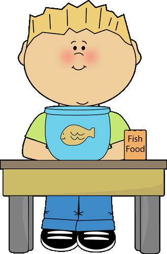 Boy Classroom Pet Helper Clip Art