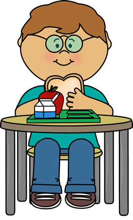 Kid Eating Cafeteria Lunch