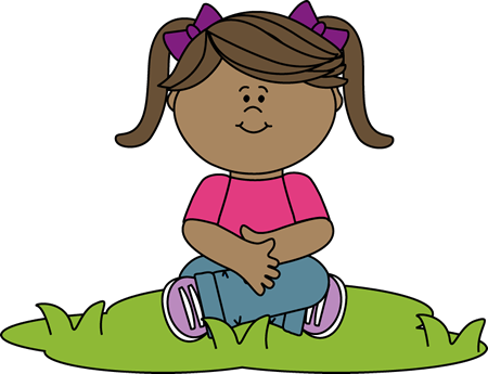 kid sitting in grass clip art - kid sitting in grass image