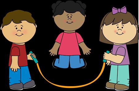 Kids Jumping Rope Clip Art