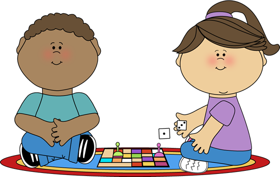 Kids Playing Games Clip Art Kids playing a board game clip
