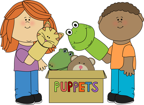 Clip Art Clip Art Of Kids kids playing with puppets clip art puppets