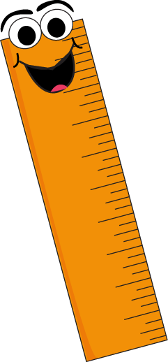 Orange Cartoon Ruler