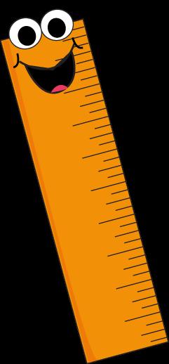 Orange Cartoon Ruler