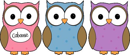 Owl Classroom Line Caboose Clip Art