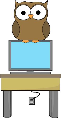 Owl Classroom Computer Technology Expert Clip Art