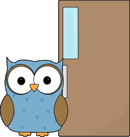 Owl Door Holder Clip Art