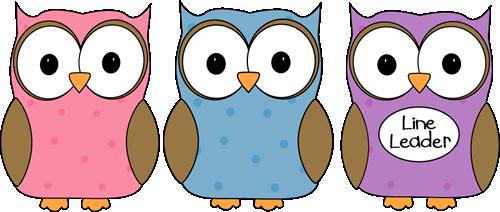 Owl Classroom Line Leader Clip Art