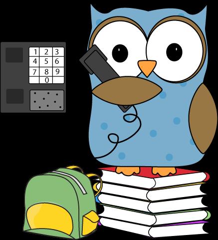 Owl Classroom Phone Monitor Clip Art