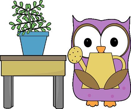 Owl Plant Helper Clip Art