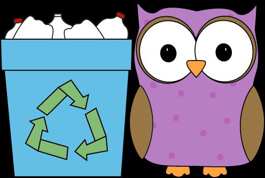 Owl Classroom Recycler Clip Art