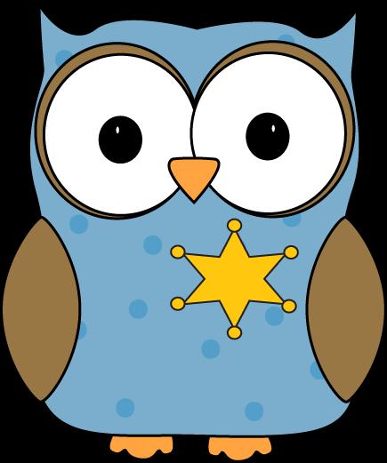 Owl Classroom Sherrif or Monitor Clip Art