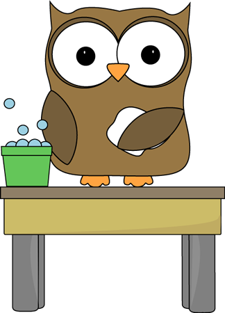 Owl Table Washer Clip Art
