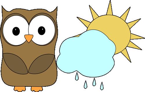 Owl Classroom Weather Helper Clip Art