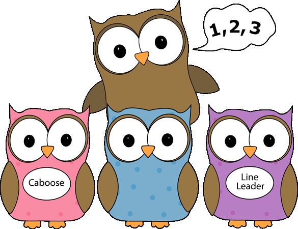 Owl Line Counter Clip Art