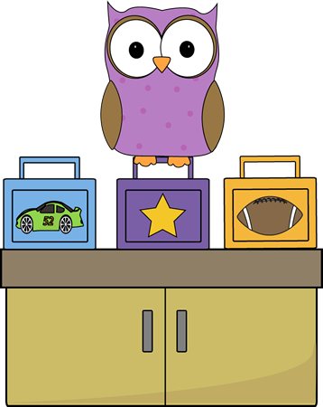 Owl Lunch Box Monitor Clip Art