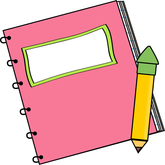 Pink Notebook with a Pencil