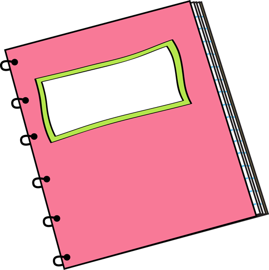 Pink Spiral Notebook with Blank Label