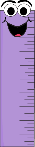 Purple Cartoon Ruler