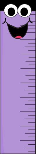 Purple Cartoon Ruler