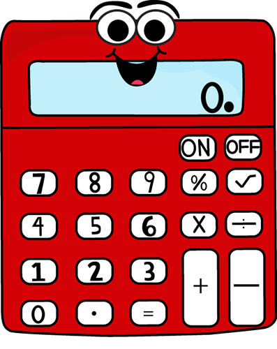 +Calculator Red Cartoon Calculator Clip Art - Red Cartoon Calculator ...