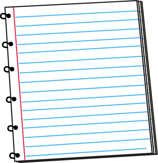 notebook page clipart - photo #4