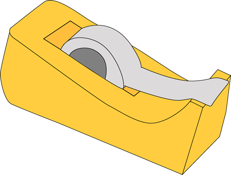 tape dispenser clip art tape dispenser vector image