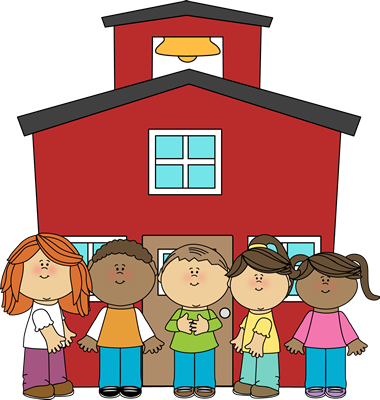School Kids at School Clip Art - School Kids at School Image