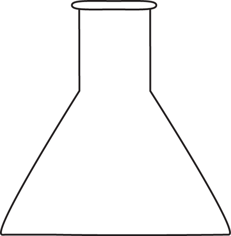 Black and White Beaker