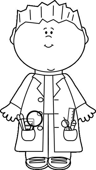 Black and White Boy Scientist