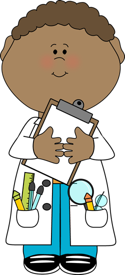 Boy Scientist with Clipboard
