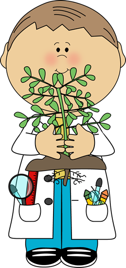 Boy Scientist with Plant