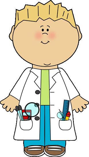 Boy Scientist Clip Art - Boy Scientist Vector Image