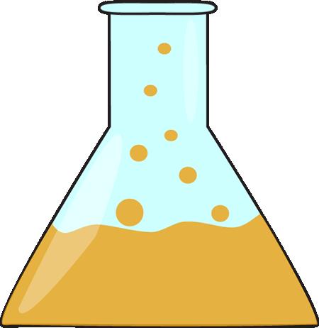 Orange Bubbling Science Beaker