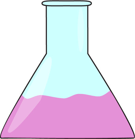 Science Beaker with Pink Liquid