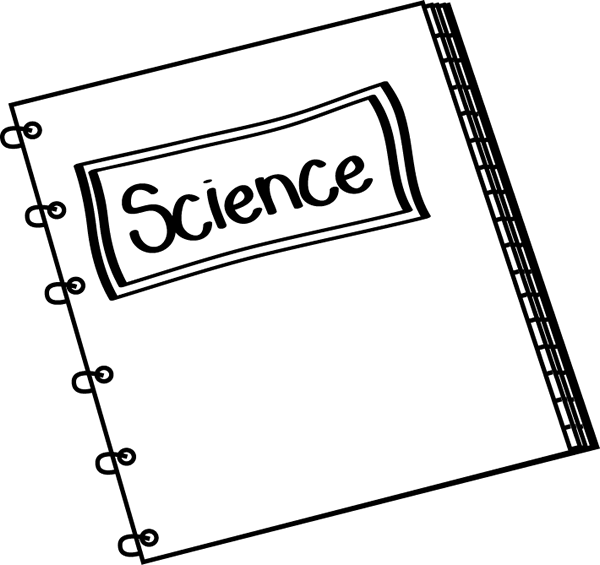 Black and White Science Notebook Clip Art - Black and ...
