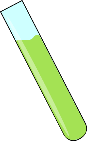 Science Test Tube with Green Liquid
