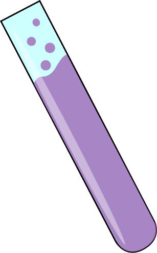 Science Test Tube with Purple Bubbling Liquid