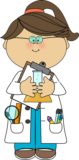 Scientist with Clipboard and Beaker