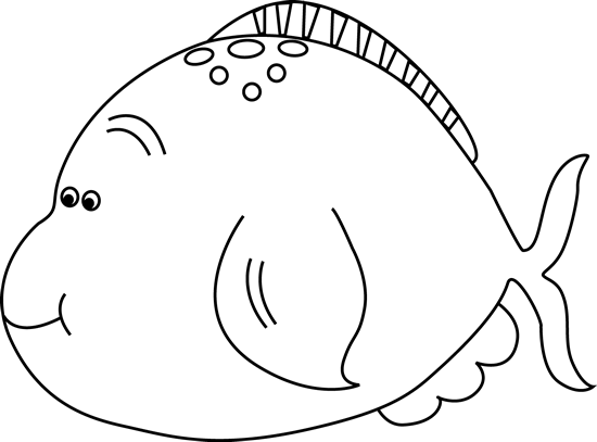 Black and White Black and White Cute Fat Fish
